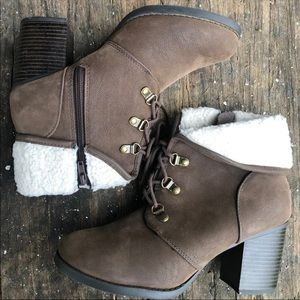 Brown booties size 8.5
